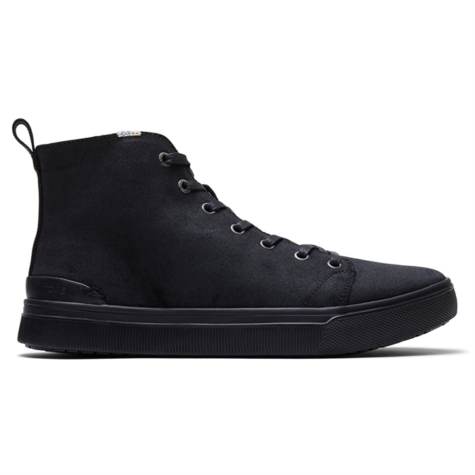 TOMS Black Leather TRVL Lite High Sneakers